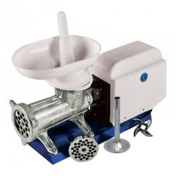 Picadora-embutidora eléctrica nº 32 sobre base metálica con cabezal tradicional de boca ovalada extra ancha Motor GR9