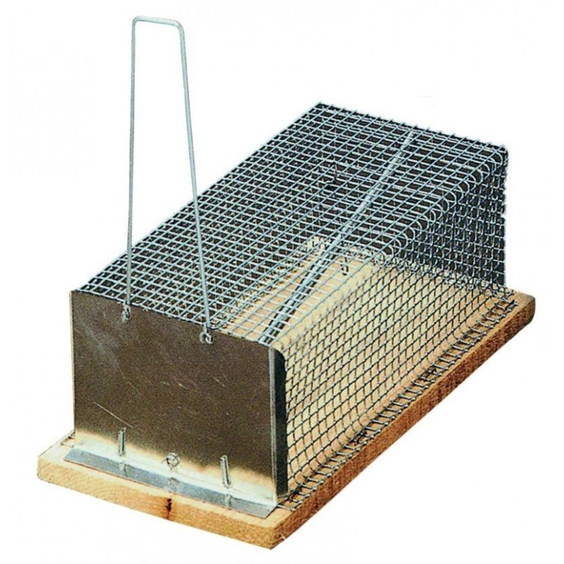 Ratonera ecológica con jaula de rejilla de Garhe
