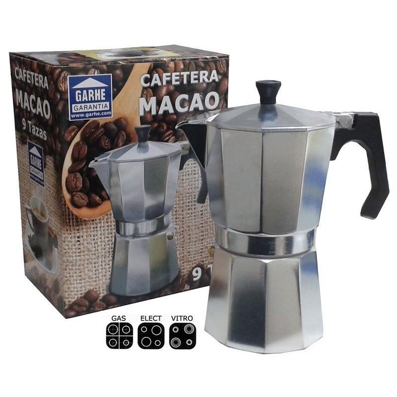 Cafetera de aluminio Macao 6 tazas de Garhe