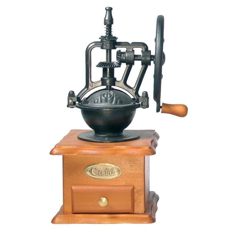 Molinillo de café decorativo negro de rueda de Garhe