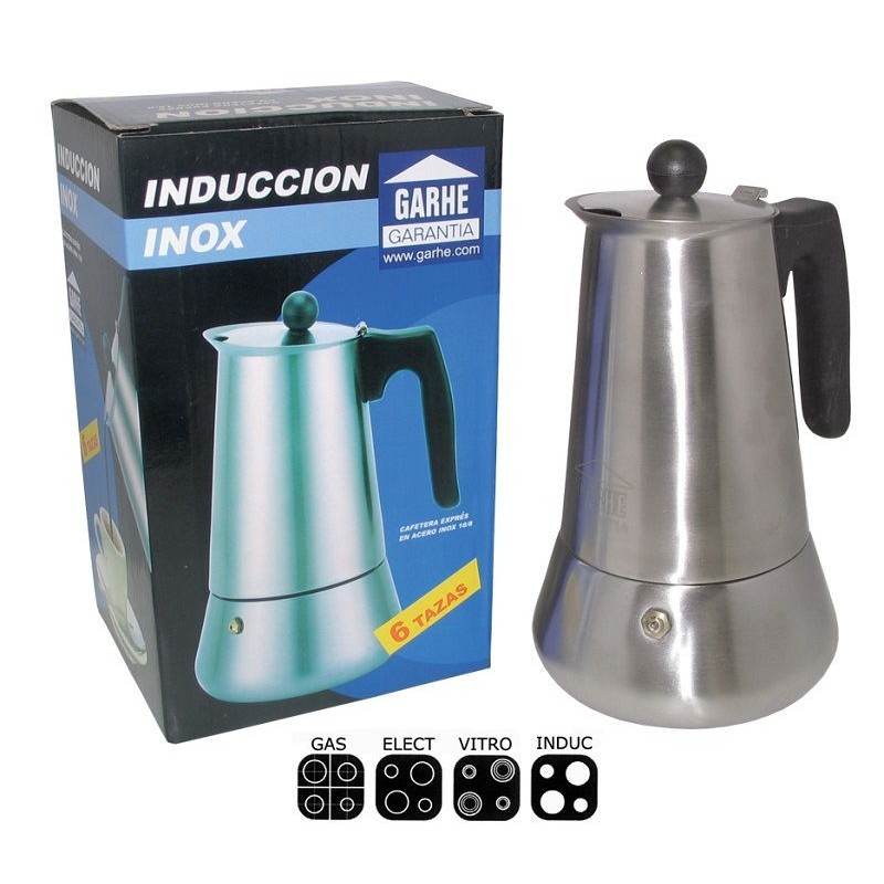 Filtro para cafetera de inducción inoxidable Macao 6 tazas de Garhe