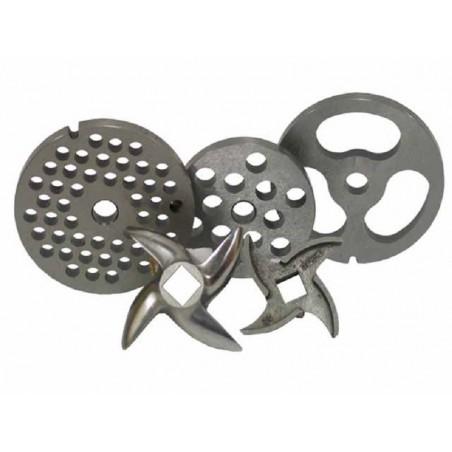 Placa de acero inoxidable 4,5 mm modelo 32 para picadora Garhe
