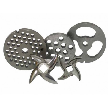 Placa de acero inoxidable 12 mm modelo 32 para picadora Garhe