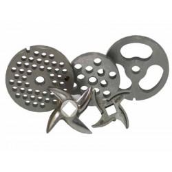 Placa chicharrón de acero inoxidable modelo 32 para picadora Garhe