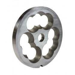 Placa chicharrón de acero inoxidable con filo modelo 32 para picadora Garhe