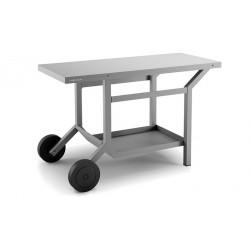 Mesa rodante para plancha TraG en acero gris antracita mate de Forge Adour