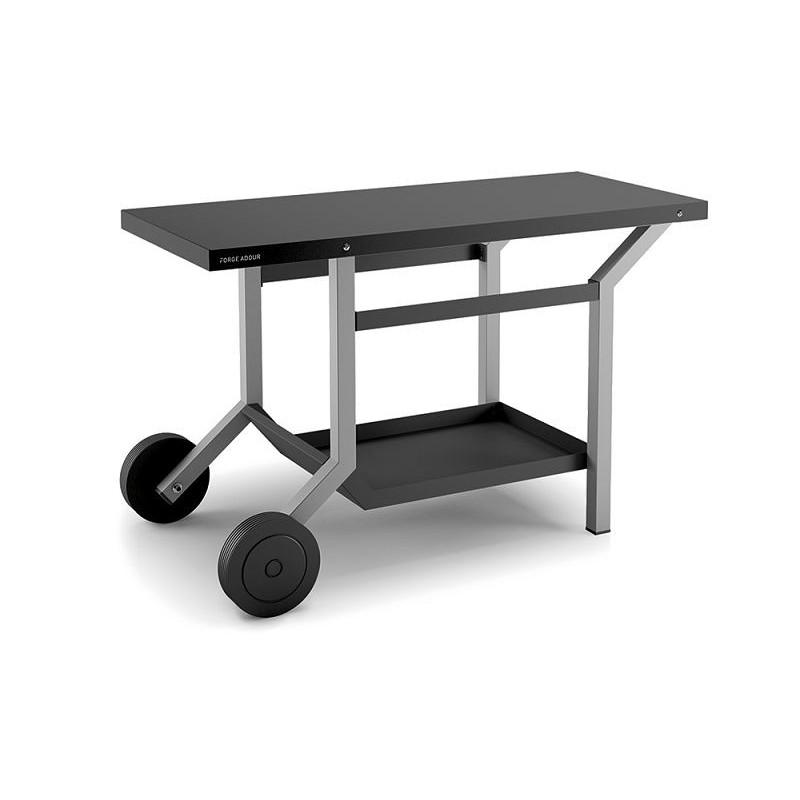 Mesa rodante para plancha TraG en acero gris antracita y blanco mate de Forge Adour