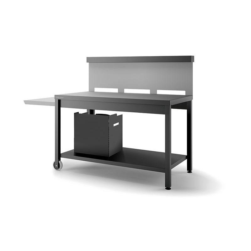 Mesa rodante para plancha Trca de acero en negro y gris claro mate de Forge Adour