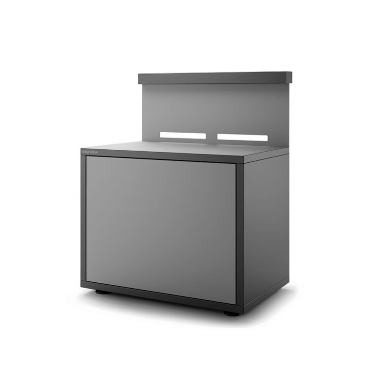 Soporte cerrado para plancha de acero en negro y gris claro mate de Forge Adour