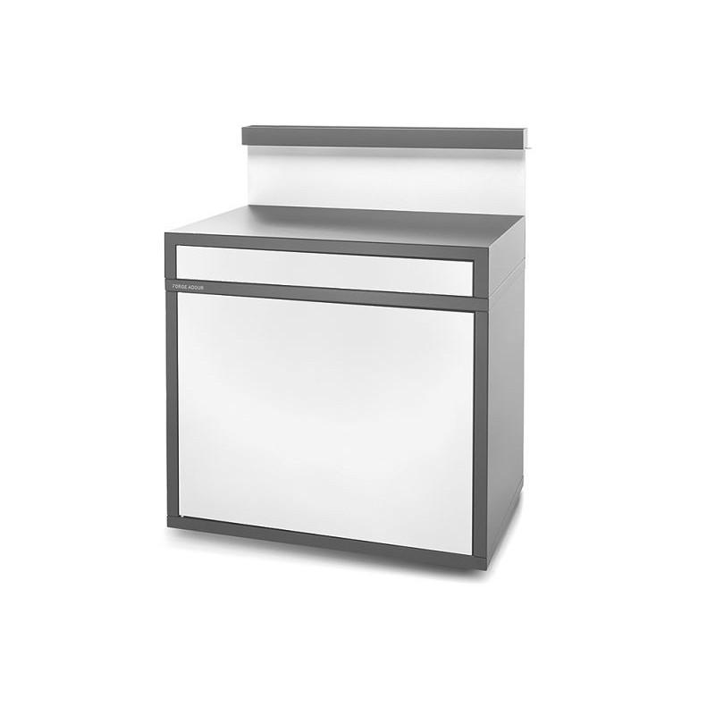Soporte servicio cerrado para plancha de acero en gris antracita y blanco mate de Forge Adour