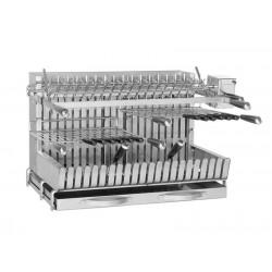Grill para posar encastrable con asador espetón eléctrico 929 de Forge Adour