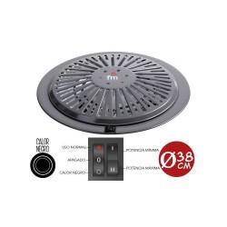 Brasero electrico FM calor negro bajo consumo 4 posiciones