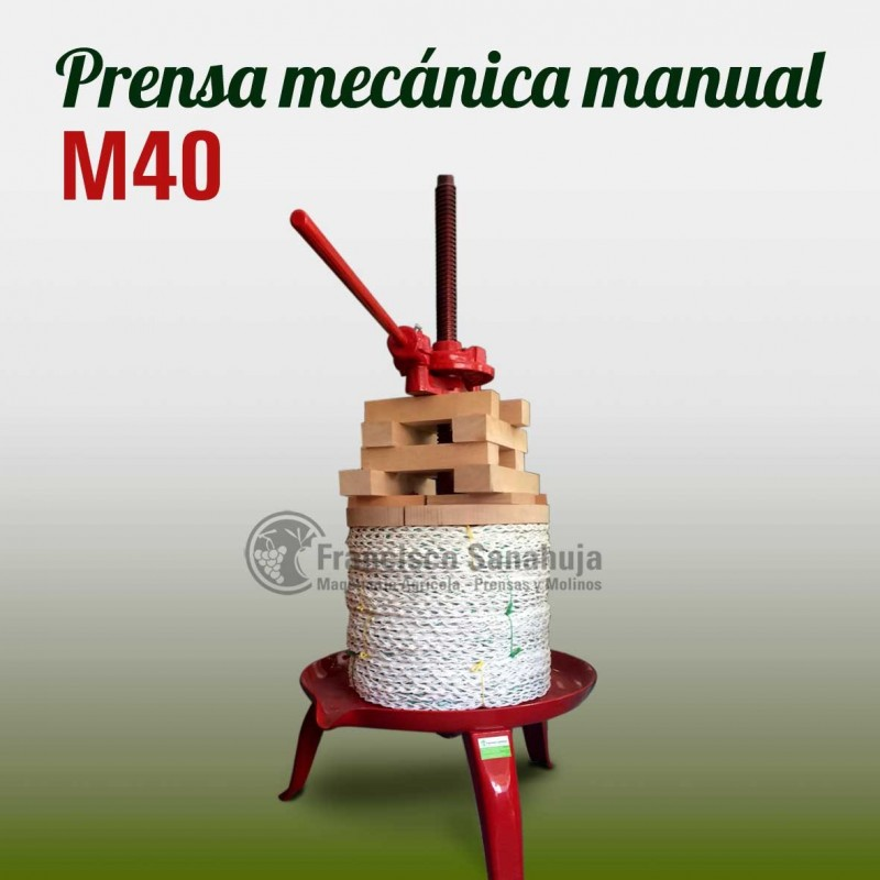 Prensa mecanica D 40 sin jaula para aceite manual