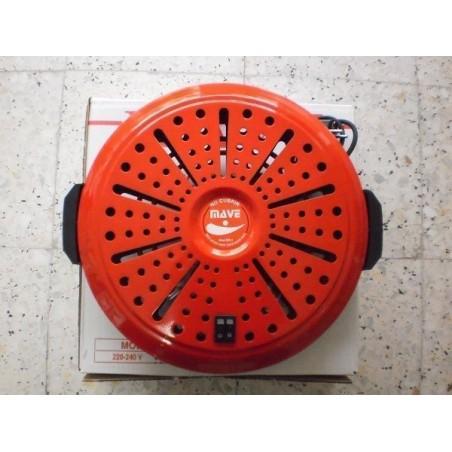 Brasero electrico mave bn 4 posiciones bajo consumo calor negro rojo