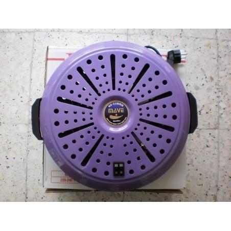 Brasero electrico mave bn 4 posiciones bajo consumo calor negro lila