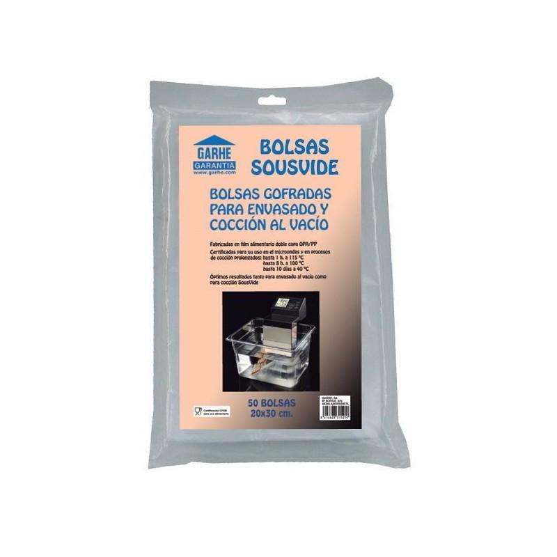 BOLSAS GOFRADAS PARA COCCION Y ENVASADO AL VACIO 20x30 SOUSVIDE