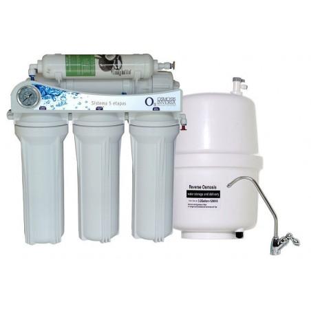 Equipo domestico de Osmosis Inversa 5 Etapas sin bomba