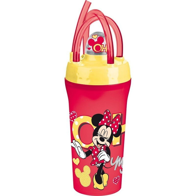Vaso con tapa + pajita 300 ml minnie oh my