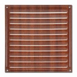 Rejilla aireacion 17x17 color madera oscura brinox