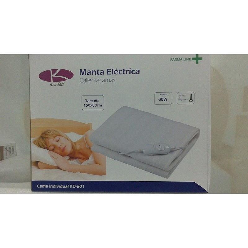 Manta electrica calienta camas 150x80 potencia 60 w 2 niveles de temperaruta
