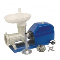 Picadora-embutidora eléctrica Garhe nº 32 de boca ancha sobre base metálica. MR10 110 RPM.