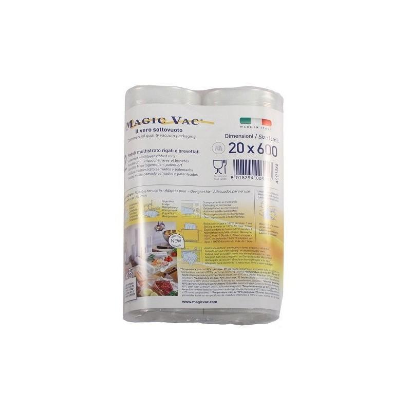 ROLLO gofrado  MAGIC VAC para ENVASADO y COCCIÓN al VACÍO 20x600 cm