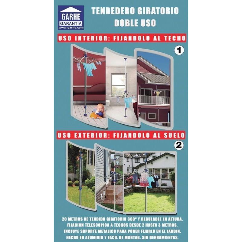 TENDEDERO GIRATORIO doble uso INTERIOR y EXTERIOR de GARHE